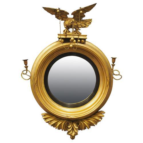 Large Regency Gilt Girandole Mirror (1 of 12)