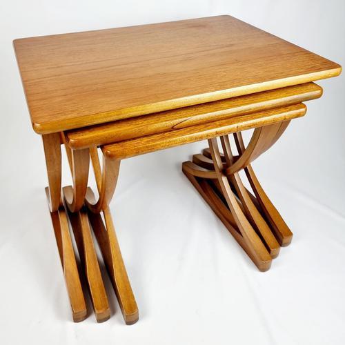 Nathan X-frame Legged Nest of Tables (1 of 11)