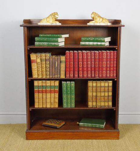 Neat 19th Century Mahogany Bookcase Cabinet (1 of 8)