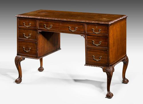 Early 20th Century Chippendale Design Mahogany Writing Table (1 of 8)