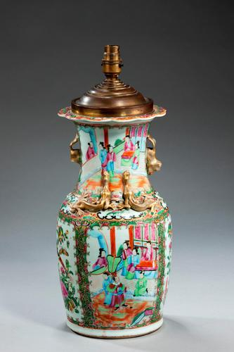 19th Century Canton Vase Lamp (1 of 3)