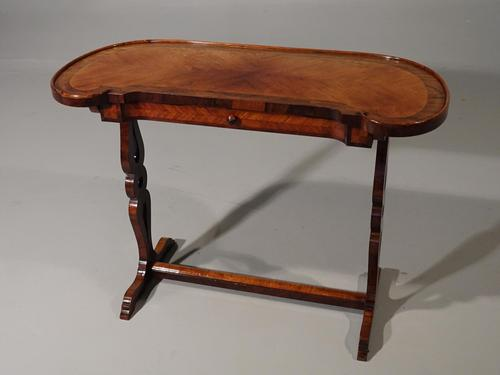 Exceptional Late 19th Century Kingwood Kidney Shaped Writing Table (1 of 6)