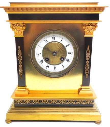 Wow! Amazing French Solid Ormolu Mantel Clock 8 Day Striking Mantle Clock (1 of 12)