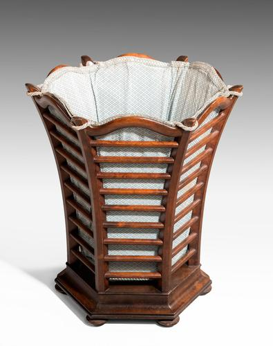 Late 19th Century Mahogany Waste Paper Basket (1 of 2)