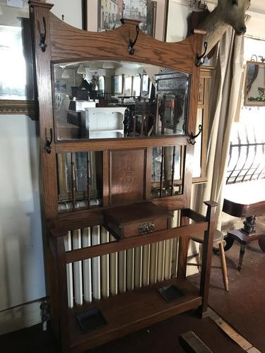 Oak Arts & Crafts / Art Nouveau Hall Stand (1 of 18)