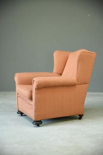 Single Upholstered Wing Back Armchair (1 of 8)