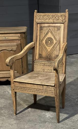18th Century French Wainscot Armchair (1 of 5)