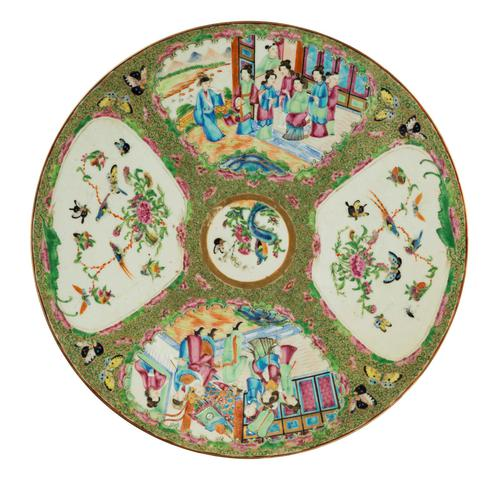 Late 19th Century Cantonese Porcelain Charger with Four Reserved Panels (1 of 5)