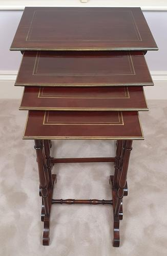 Stunning 19th Century Mahogany Nest of Four Tables (1 of 7)