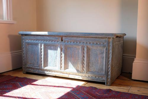 18th Century Painted Pine Coffer (1 of 28)