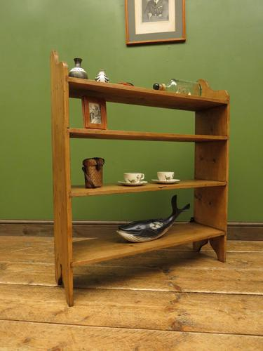 Antique Pine Display Shelves, small open kitchen shelves (1 of 13)