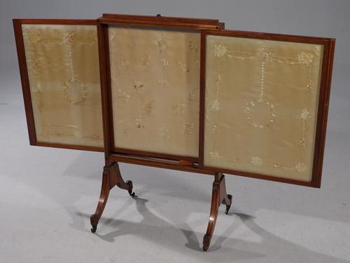 Late 19th Century Mahogany Framed Fire Screen (1 of 8)