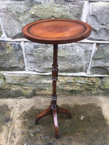 Edwardian Inlaid Mahogany Tripod Wine Table (1 of 7)
