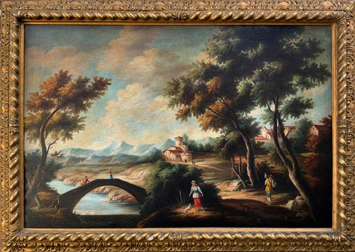 Substantial! Original Italian Landscape Oil by Follower of 17th Century Gaspard Dughet (1 of 15)