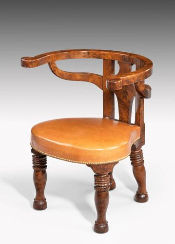 Rare William IV Period Desk or Library Chair (1 of 7)