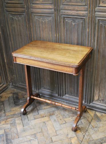 Oak Occasional Side Tea Table (1 of 9)