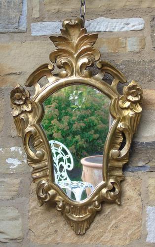 Antique Florentine Shield Shape Mirror (1 of 5)