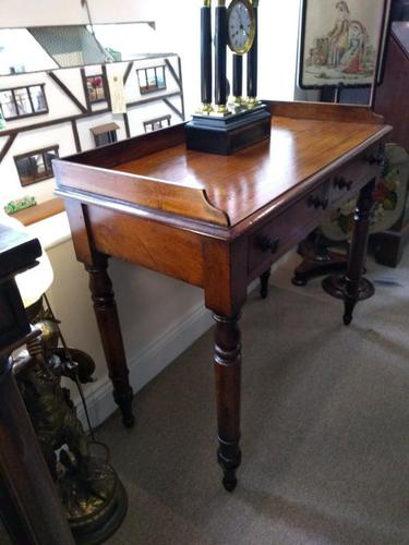Victorian Mahogany Galleried Writing Table (1 of 6)