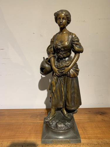 Spelter Figure of a Water Carrier (1 of 6)