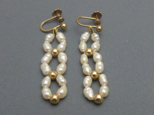 Baroque Pearl Earrings (1 of 7)