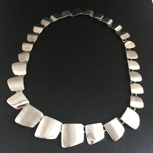 Danish Sterling Silver Necklace. 1960s. By G. Ellegaard Jorgensen (1 of 4)