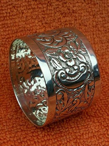 Antique Sterling Silver Hallmarked Napkin Ring 1903 (1 of 6)