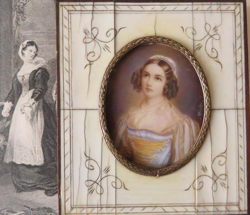Hand Painted Miniature Portrait Helen Sedlmayer 1813-1898 (1 of 4)