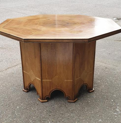 Marble Inlaid Walnut Centre Table (1 of 14)