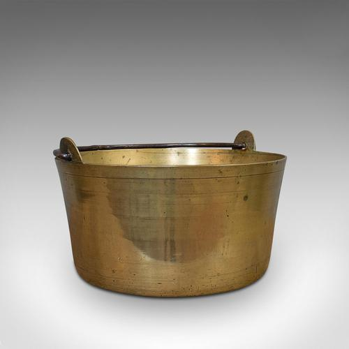 Antique Artisan Jam Pan, French, Solid Brass, Kitchen Pot, Victorian, Circa 1900 (1 of 9)