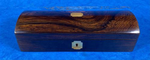 William IV Rosewood Glove Box with Brass Inlays (1 of 11)