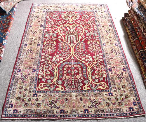 Fine Antique Kirman Rug 201x132cm (1 of 4)