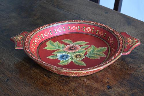 Large Scandinavian Painted Wooden Bowl (1 of 10)