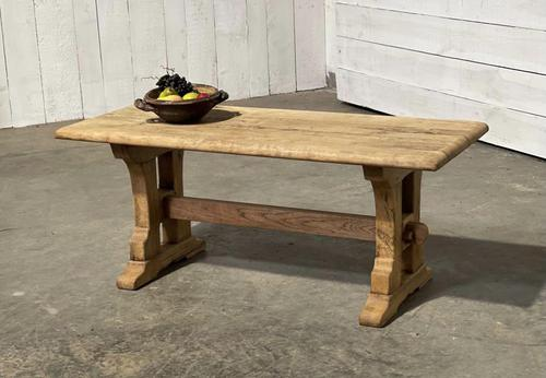 Great Rustic French Bleached Oak Coffee Table (1 of 25)