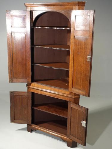 Exceptional George III Period Oak Double Corner Cupboard (1 of 5)