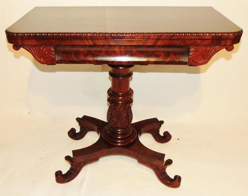 American Regency mahogany card table (1 of 9)
