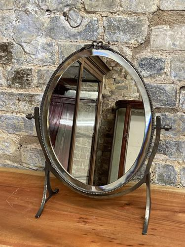 Round Brass Mirror with Bow Detail (1 of 5)