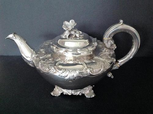 Antique George IV Silver Teapot - 1835 Bateman (1 of 8)