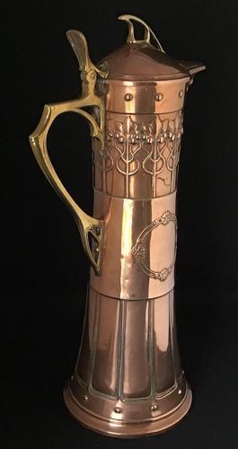 Large Very Stylish WMF Copper & Brass Jug (1 of 8)