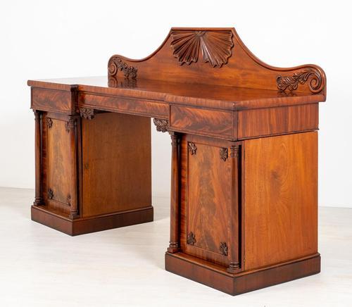 Impressive William IV Mahogany Pedestal Sideboard (1 of 9)