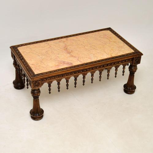Antique Carved Marble Top Coffee Table (1 of 14)