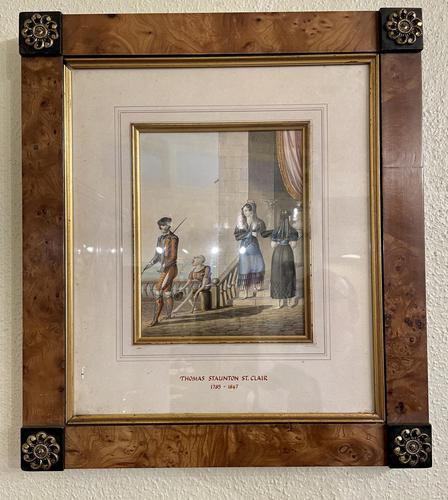 Thomas Staunton St. Clair Fine Pair of Walnut Framed Watercolours (1 of 4)