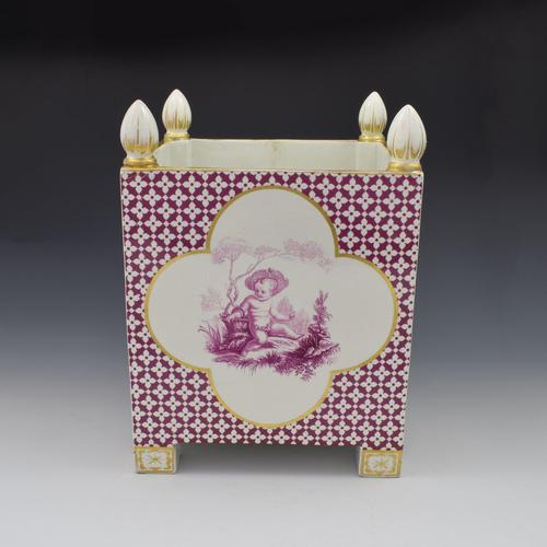 Large Victorian Minton Sevres Style Square Jardiniere (1 of 15)