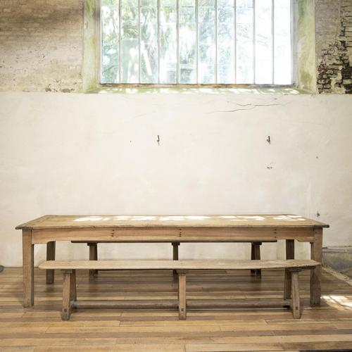 Large Scale 19th Century French Sycamore & Oak Farmhouse Table & Benches (1 of 19)