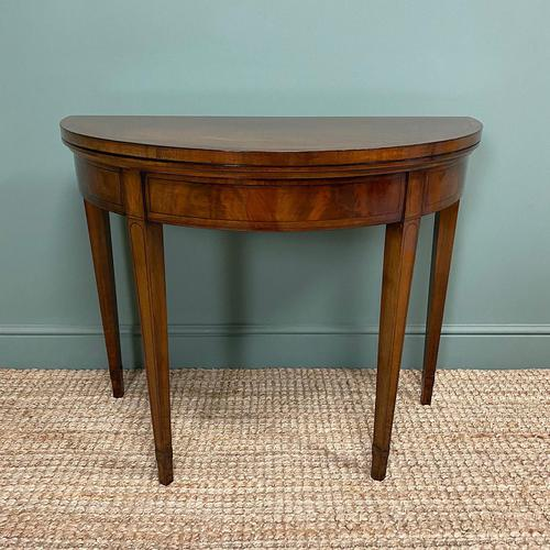 Stunning Demi Lune Mahogany Antique Card / Games Table (1 of 7)