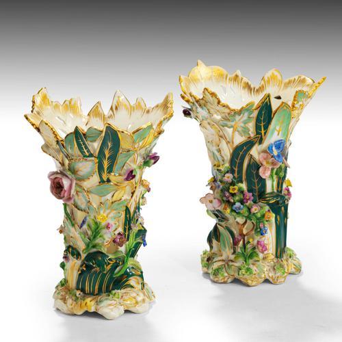 Fine Pair of Mid 19th Century Coalbrookdale Vases (1 of 4)