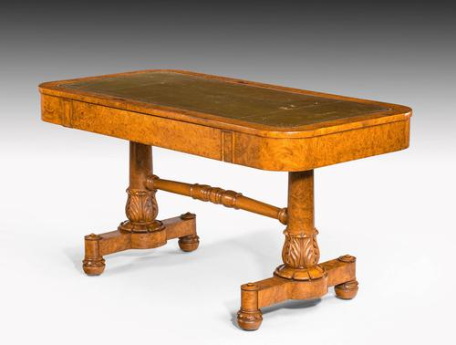 Regency Period Burr Amboyna Library / Writing Table (1 of 6)