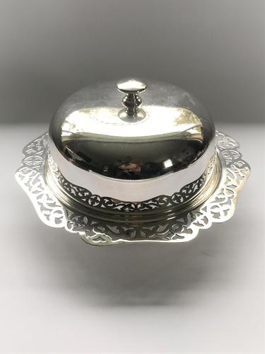 An attractive silver plated three part muffin dish (1 of 7)