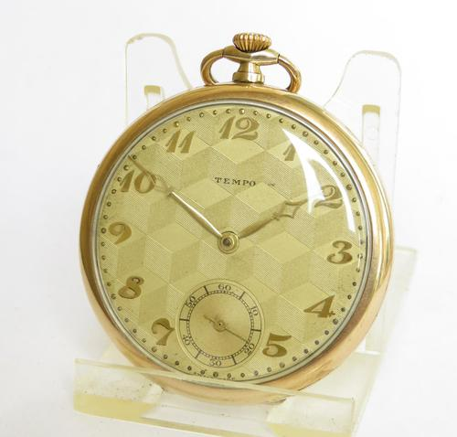 Vintage 1930s Tempo Pocket Watch (1 of 5)