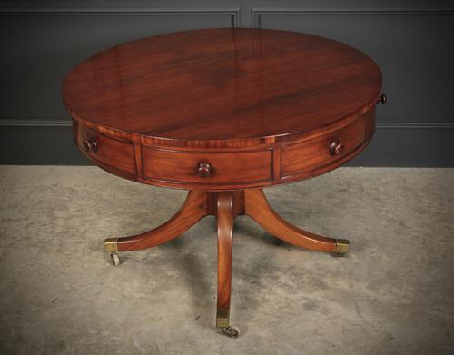 Georgian Mahogany Drum Centre Table (1 of 10)