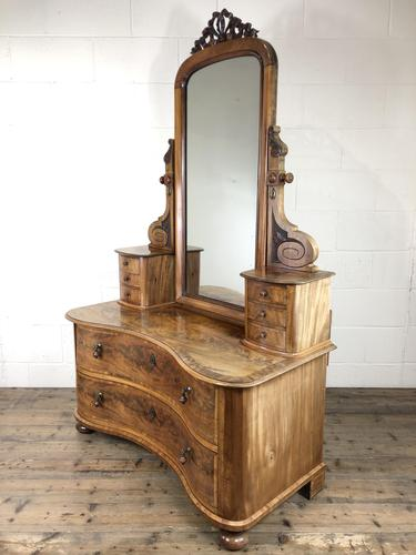 Antique 19th Century Concave Mahogany Dressing Table (1 of 21)